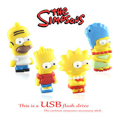 USB Flash Drive The Simpsons Movie Character 8GB Fast & Free shipping