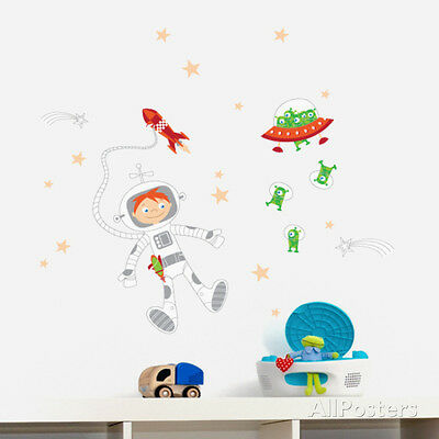 Journey into the Space Wall Decal Sticker - 39x33
