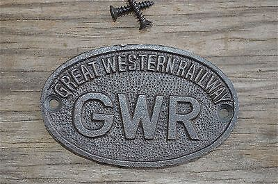 Small Oval Great Western Railway Cast Iron Plaque Gwr Metal Door Sign Cb1 • CAD $11.99