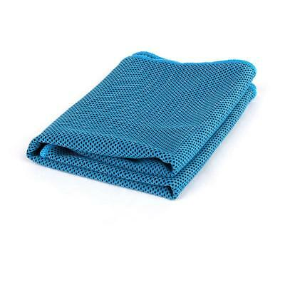 Cool Ice Cold Cooling Towel Cycling Running Gym Fitness Yoga Blue Black