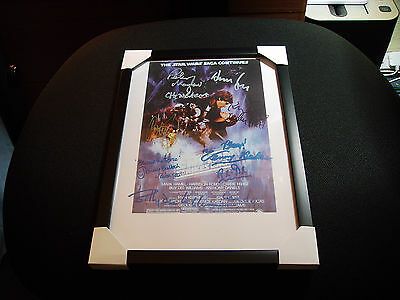 """Star Wars-The Empire Strikes Back Cast Signed X 7  A4 - 12""""x 8"""" Photo Print"""