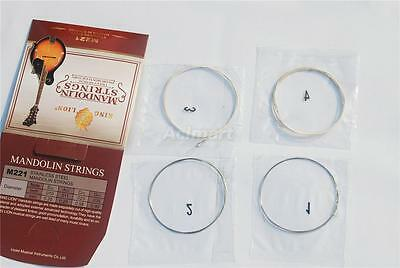 Set of 8 Alloy Steel Strings Wound for Electric Mandolin G D A E Gauge