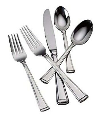 Gorham COLUMN II 45 Piece Set Service for 8 Stainless Flatware Shiny New Boxed