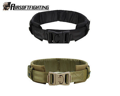 2Color Hunting 1000D Tactical Nylon Duty Belt + Waist protection Pad Black/TAN A