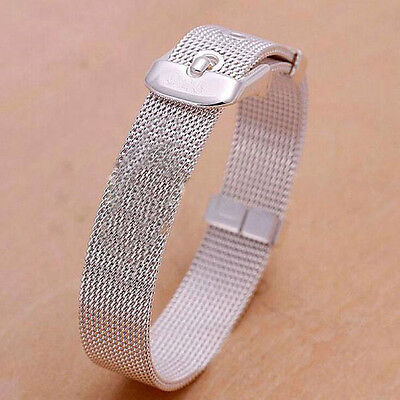 14/16/18/20/22mm Sliver Stainless Steel Milanese Bracelet Wrist Watch Band Strap