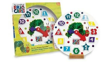 The World Of Eric Carle The Very Hungry Caterpillar Wooden Shape Sorter Clock