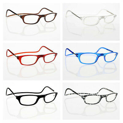 6 Colors Frame Magnetic Readers Reading Glasses Convenience Hang Neck +1.0~+4.0