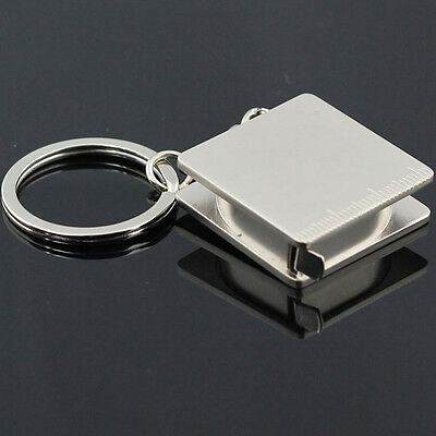 Practical Metal Pocket Tape Measure Keychain Key Chain Keyring Key Fob Holder