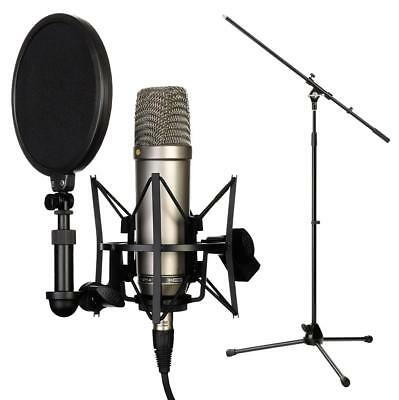 Rode Nt1-A Grossmembran Kondesator Mikrofon Studio Mic Vocal Recording Set Niere