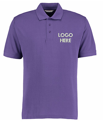 LARGE Purple Polo Shirt with Embroidered Logo Personalise with Your Text