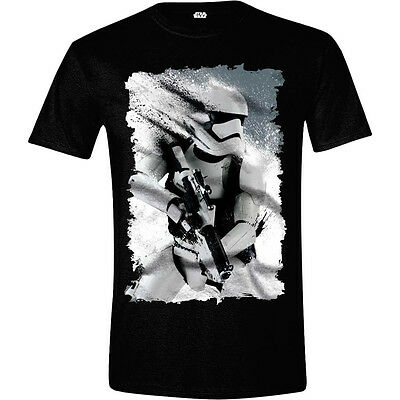 STAR WARS VII Men's The Force Awakens Distressed StormTrooper T-Shirt, M, Black