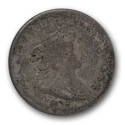 1805 10C 4 Berries Draped Bust Dime Very Good VG R164