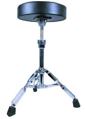 GP Percussion Double Braced Drummers Throne, Swivel Adjustment, Black Seat, DT82