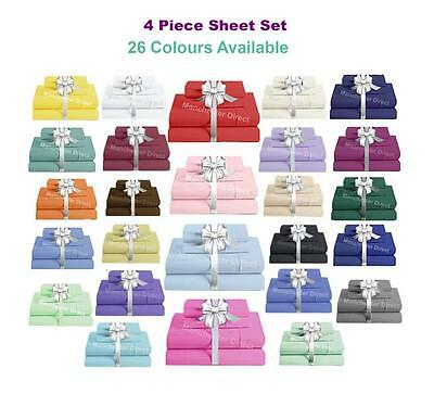 Sheet Set (Fitted, Flat & Pillowcases) Single/King Single/Double/Queen/King size