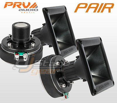 """PAIR 1"""" Compression Driver + 11-25 HORN - Replacement For Selenium JBL DH200E"""