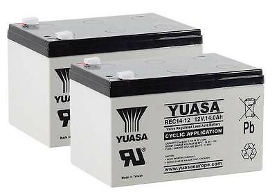 Pair of Yuasa REC14-12 Battery for Mobility Scooter 12V 14Ah Uprated 12V 12Ah  V