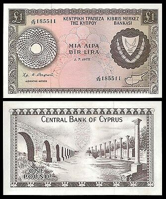 Cyprus 1 POUND 1975 P 43b UNC SPECIAL OFFER !