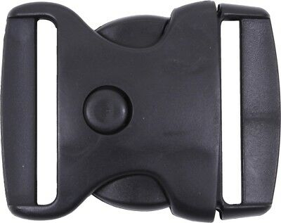 Black Triple Retention Buckle - 2 Inches