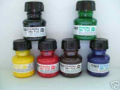 NEW Drawing Ink 20ml - Set of 6