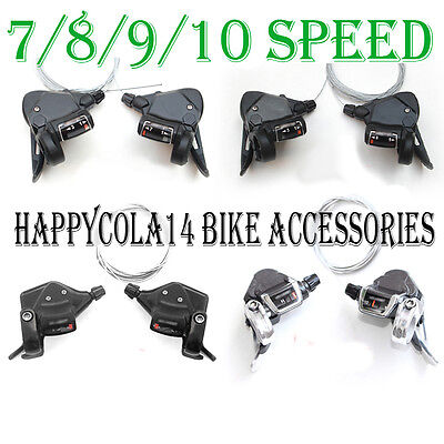 MTB Bicycle Bike 3 x 7 8 9 10 Speed Shift / Shifter Lever Set Fit Shimano System