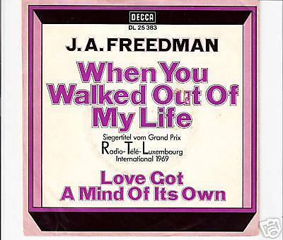 "J.A. FREEDMAN - When you walked out of ... ""Eurovision"""