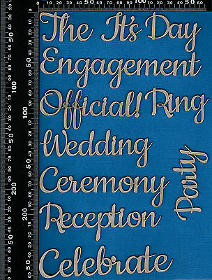 Chipboard Wedding Engagement Ceremony Words