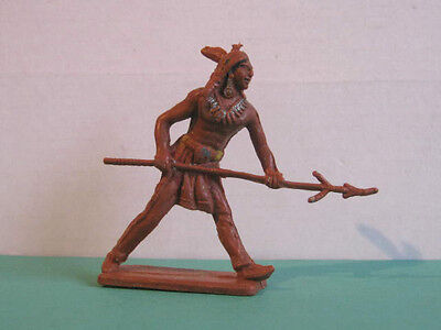 1 x CHERILEA  WILD WEST INDIAN  60mm PLASTIC TOY SOLDIER  ...