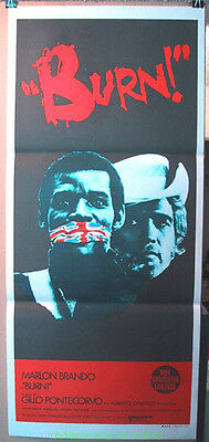 Burn! Movie Poster  Marlon Brando 1969 Australian Db