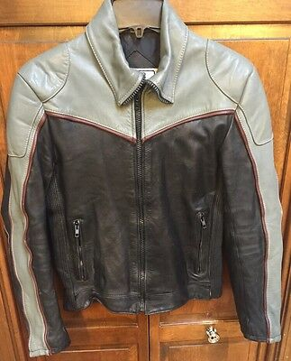 Tour Lion Rex Marsee Black Gray Leather Motorcycle Jacket Men S 38 Made In Korea