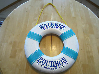 Rare Walker's Deluxe Bourbon 8 Years Old Life Preserver Styrofoam Sign