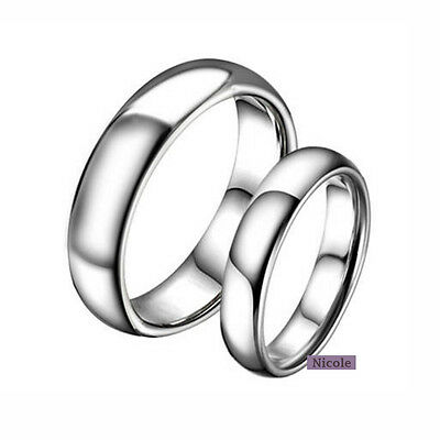 Stainless Steel Polished Comfort Fit Wedding Band Ring Size 7-11 RM11