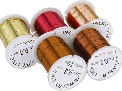 10pcs 10M/Roll Mix Color Copper Wire for Jewelry Bead DIY String Thread Cord