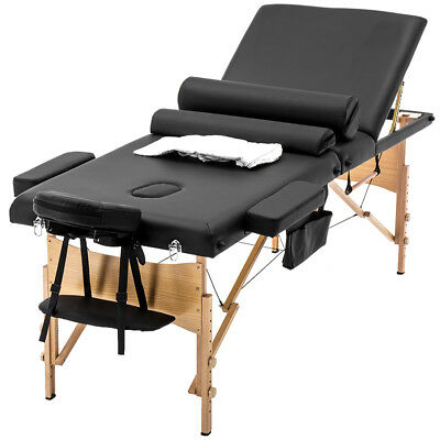 """BestMassage 84""""L 3 Fold Portable Massage Table W/ Sheet Bolsters Carry Case 3"""