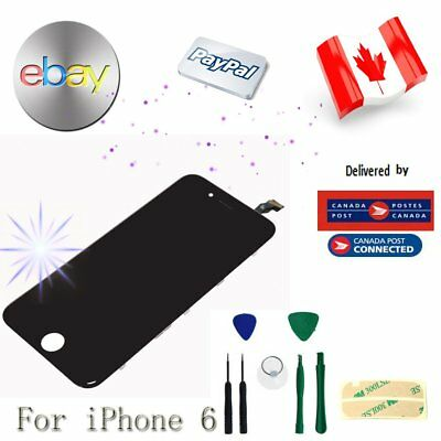 """For Black iPhone 6 4.7"""" LCD Replacement Screen Touch Digitizer Assembly From CA"""