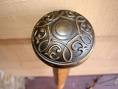 2 tone Octo-sided OAK faux antique ornate brown DOOR KNOB CANE~useful gift 200Lb