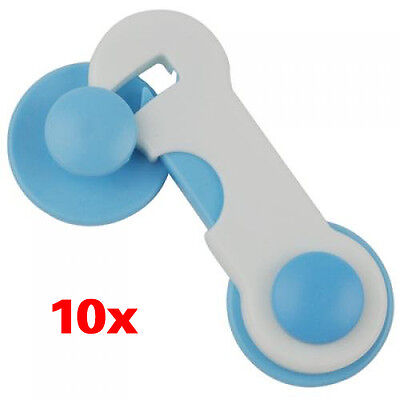 10pcs Door Drawer CabInet Safety Locks For Child Kids Baby ED