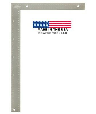 Johnson 16 x 24in 40 x 60cm Metric MM Aluminum Carpenter Square Made in USA