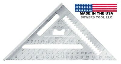 Johnson 7in Professional Aluminum Rafter Angle Johnny Square RAS-1B Made in USA