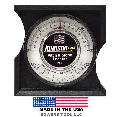 Johnson Pitch & Slope Locator 0-90 Degrees 750 MADE in USA