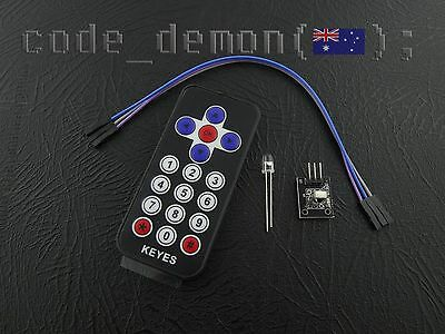 Wireless IR Remote Control Module Infrared Kit For Arduino + Free CR2025 Battery