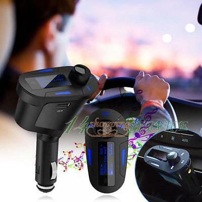 Car LCD MP3 Player Wireless FM Transmitter USB Charger Kit  For Mobile Phone UK