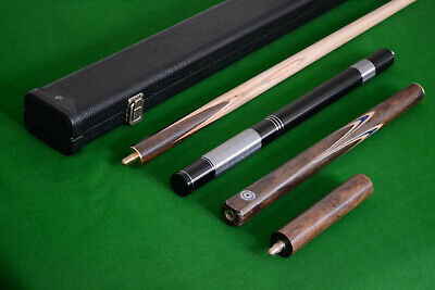 New 3/4 Handmade Ash Classic Snooker/Pool Cue set With Case Extension Rosewood