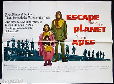 ESCAPE FROM THE PLANET OF THE APES ORIGINAL 1971 QUAD POSTER RODDY McDOWALL