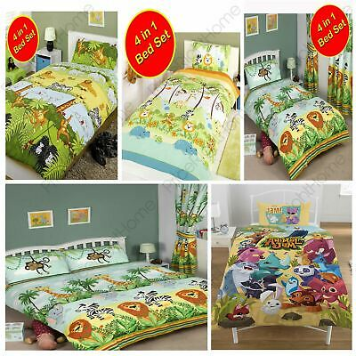 Jungle Themed Duvet Covers Kids Childrens Animals - Single, Junior, Double