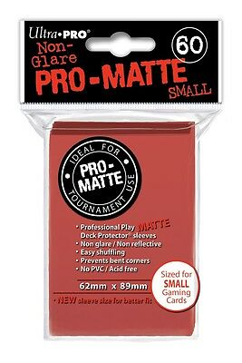 Pro-Matte Red Small Size Deck Protector UPR 84263