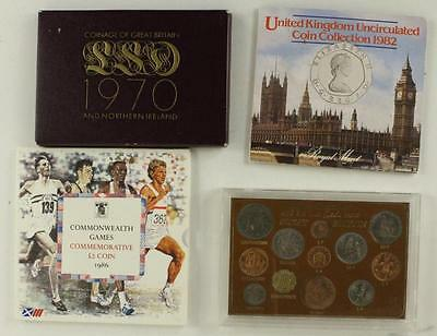 Vintage Lot Great Britain United Kingdom Coins Currency Ireland 1967-1986
