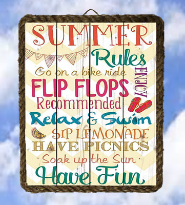 Lake 14 Beach Summer Rules Lake Gifts Lake Wall Decor Art Prints lalarry ventage