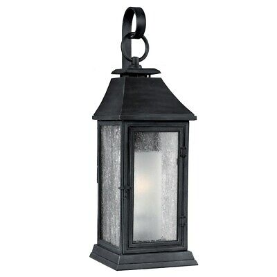 Feiss Shepherd 1 Light Outdoor Sconce, Dark Weathered Zinc- OL10601DWZ