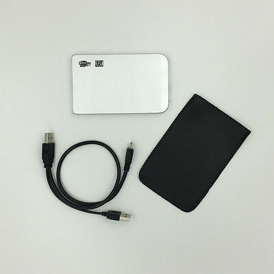 """New 120GB External Portable 2.5"""" USB Hard Drive HDD With Warranty SILVER"""