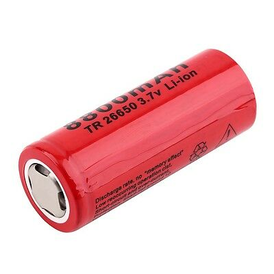 Hot 3.7V 8800mAh TR26650 Li-ion Rechargeable Battery for LED Flashlight BF